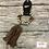 Thumbnail: Blazin Roxx 2 Beads Brown Fabric Tassel Stretch Style Bracelet, Multi Colo