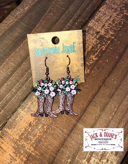 Country Girl Earrings Copper