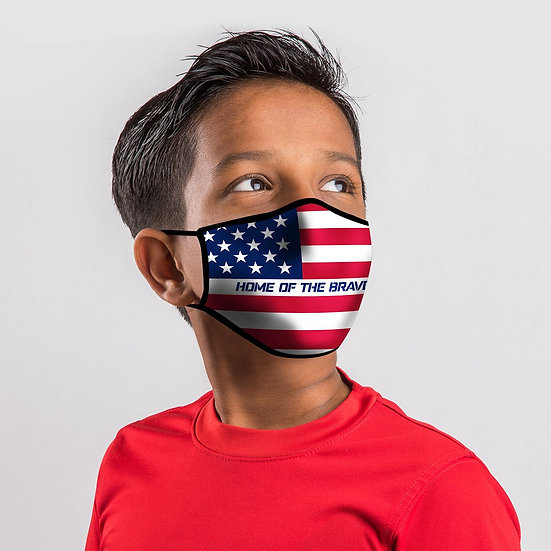 Kerusso Youth Face Mask Flag