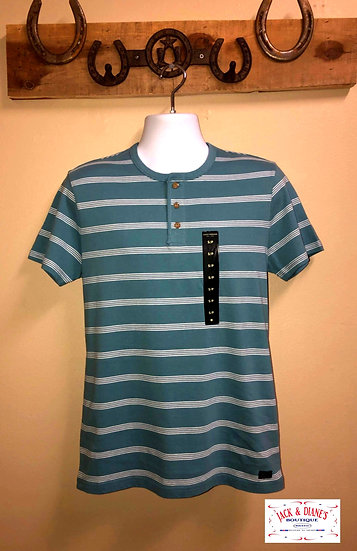 Lucky Brand Striped Henly Short Sleeve