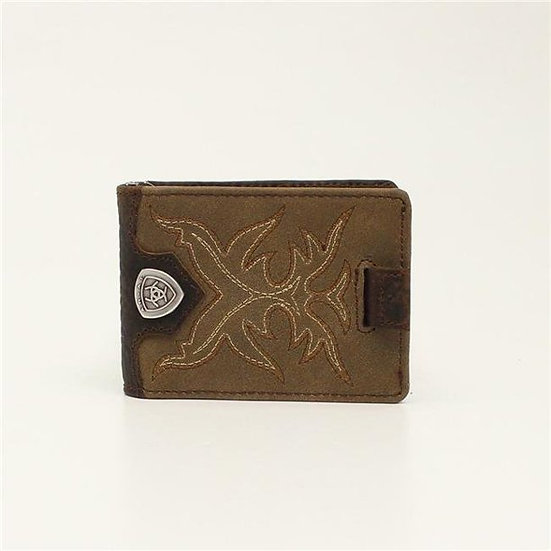 Ariat Bifold Money Clip Boot Stitch Wallet