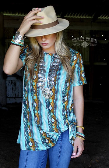 Crazy Train Must Have Serape Knot Top