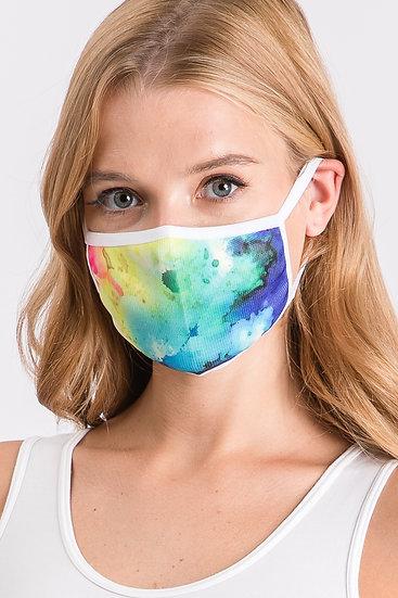 Multi Color Tie Dye Face Mask