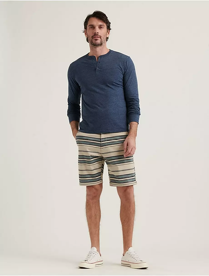 LUCKY BRAND Stretch Twill Stripe Flat Front Shorts