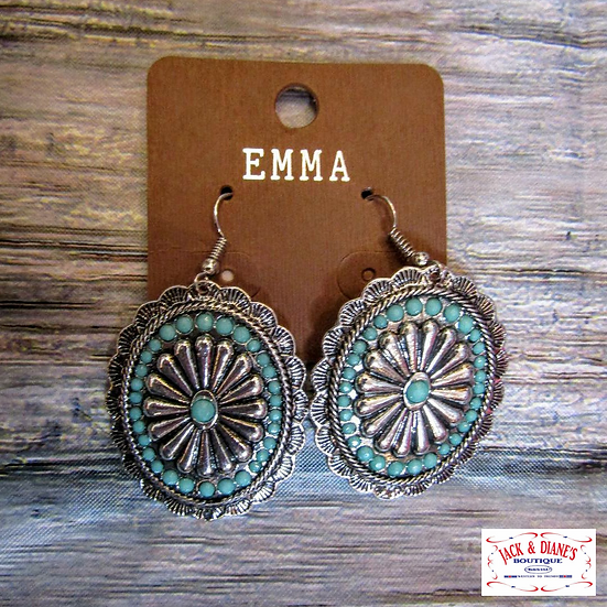 Emma Bronze and Turquoise Earrings