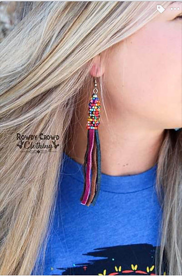 Rowdy Crowd Clothing Bowan Beaded Earrings