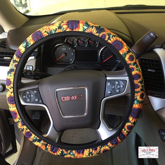 Sunflower Steering Wheel Cover