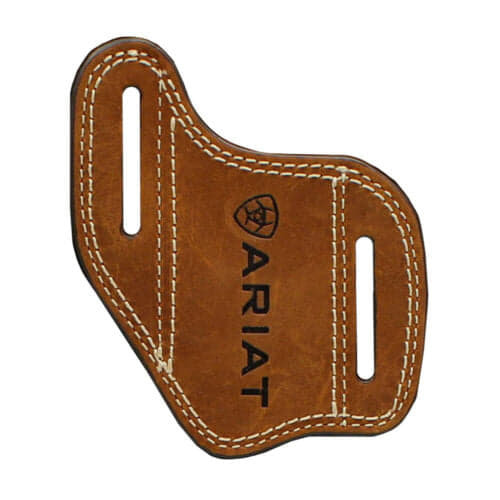 Ariat Embossed Logo Leather Knife Sheath Sleeve