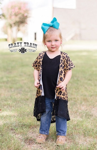 Crazy Train Kids Black & Wild Duster Leopard