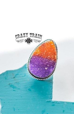 Crazy Train Seminole Ring Slide Purple and Orange