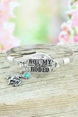 Burnished Silvertone 'Not My First Rodeo' Bracelet