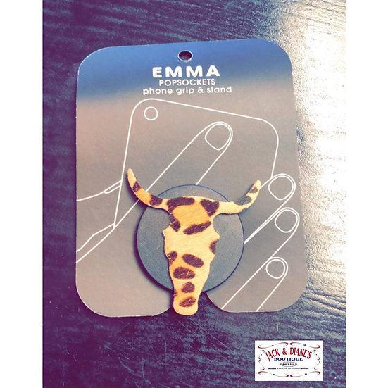 Emma POPSOCKETS phone grip and stand Leopard Print Steer