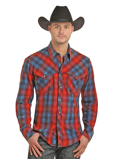 ROCK AND ROLL COWBOY BRUSHED TWILL PLAID