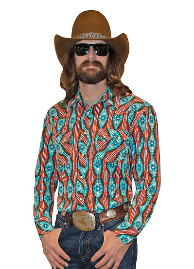 DALE BRISBY MINERAL CRINKLE WASHED AZTEC PRINT
