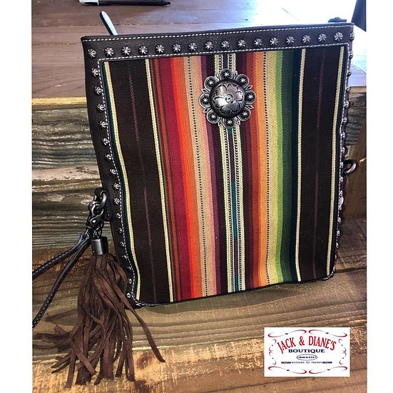 Blazin Roxx Serape Converts from Clutch to Crossbody Concealed Carry Bag
