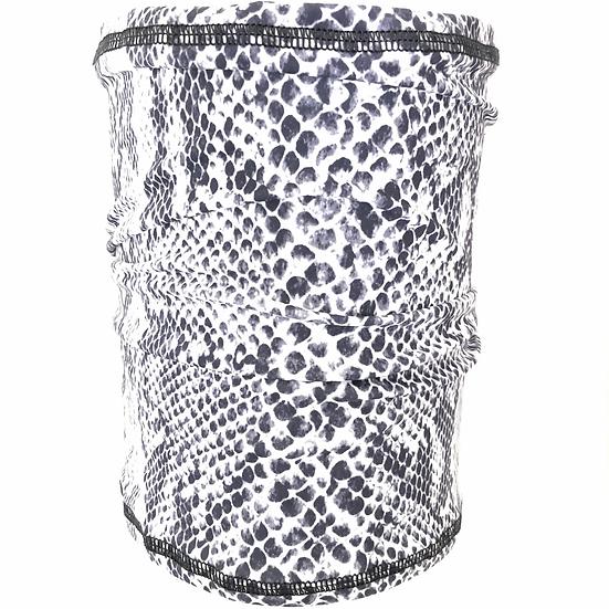 Made in the USA Bani Bands Multifunction Gaiter Headband Snakeskin Black White