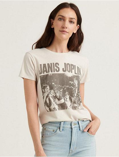 Lucky Brand Janis Joplin In Brazil Tee
