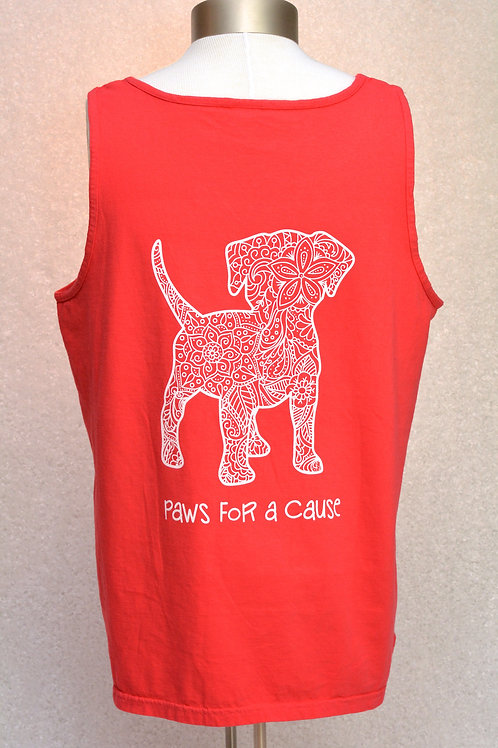 Mandala Dog Tank Heart Paw