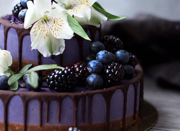 Торт на День Рождения с цветами