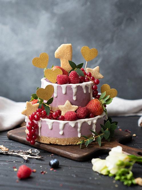 Торт на год для девочки 1,5 кг