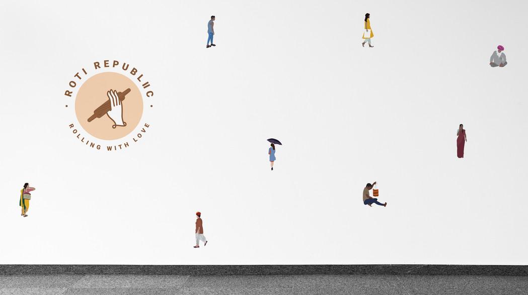 Wallpaper design for Roti Republic