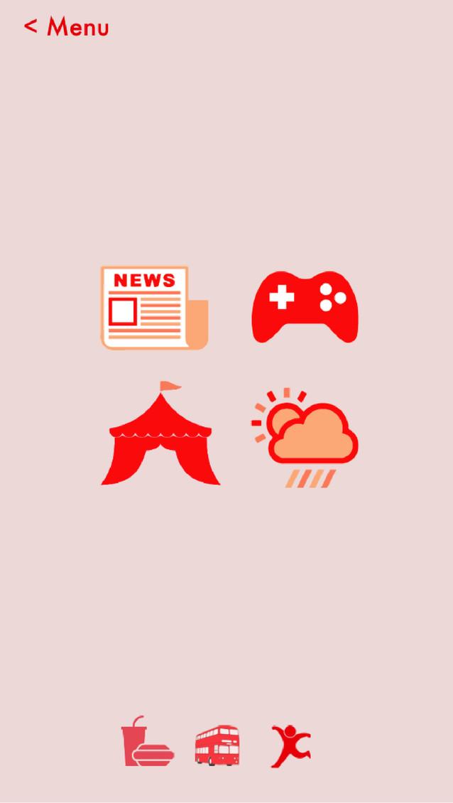 UI design for the app