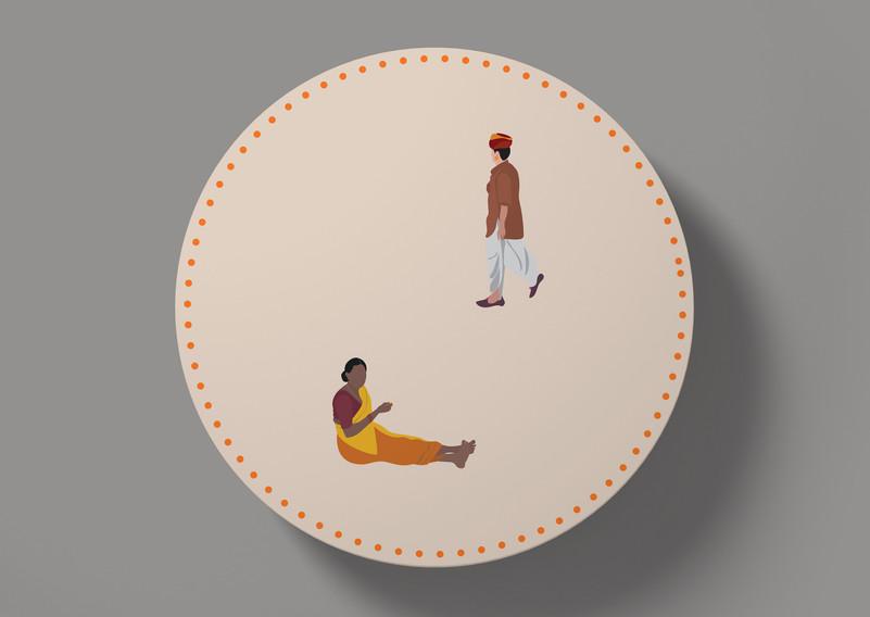 Coaster design for Roti Republic