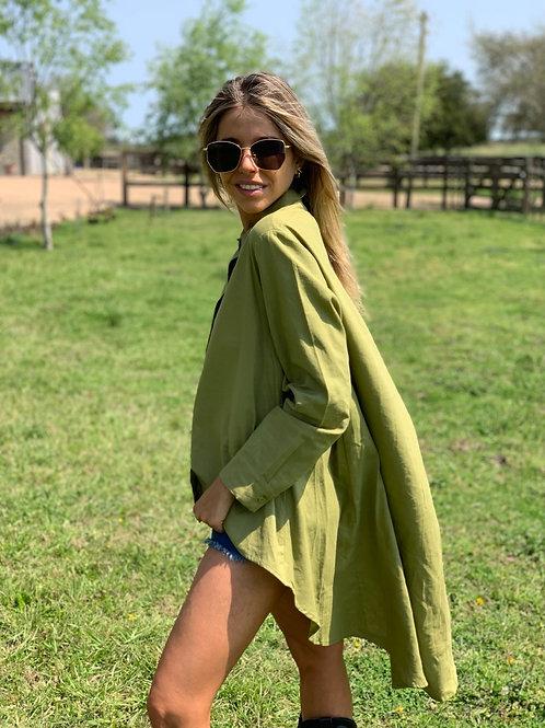 Camisola Buzios lino OLIVA