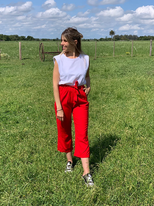 Berenjena Lino pants colorado