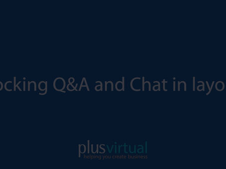 Locking Chat and Q&A in layout