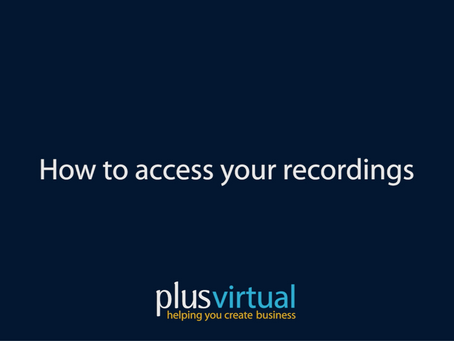How to access your Recordings
