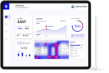 tablet with analytics dashboard