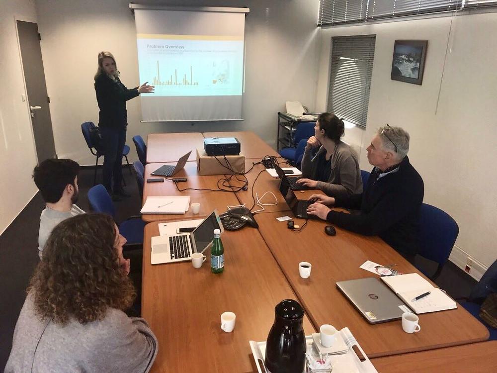 Presentation av Agricam på affärsmöte i Bretagne