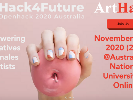 The launch of ArtHack - congrats to female-founded ArtDeck!
