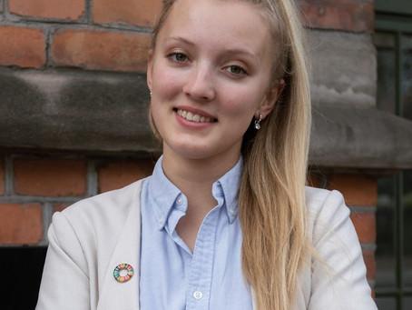 Founder & CEO Monika Lionaite researching hackathons