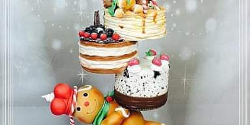 Gravity christmas cake