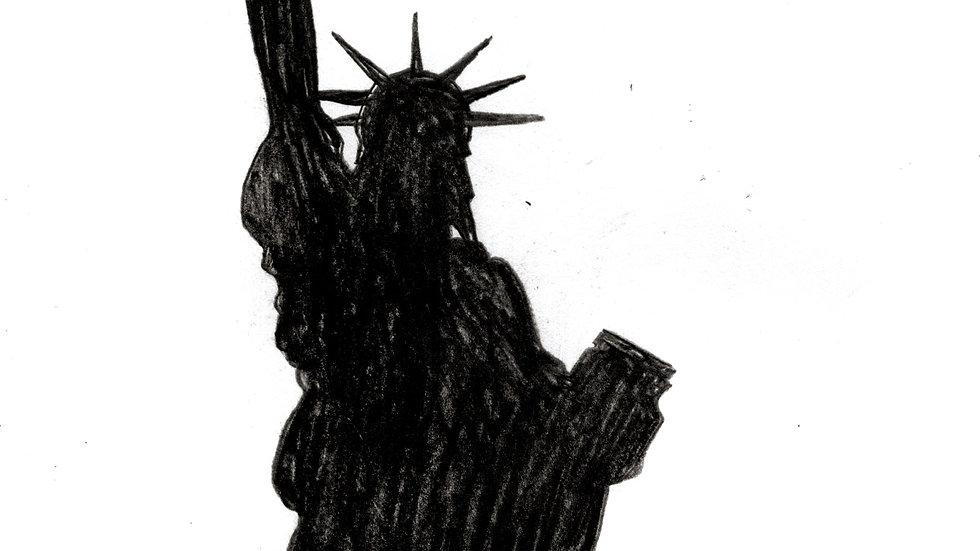 Andrea Mastrovito - Sad Statue of Liberty