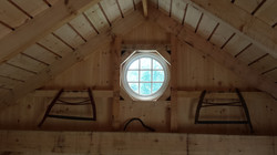 2' Round Window in Timber Frame