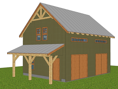 22' x 28' Simple Post & Beam Barn