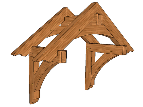 """32"""" x 54"""" Mortise and Tenon Entry Roof"""