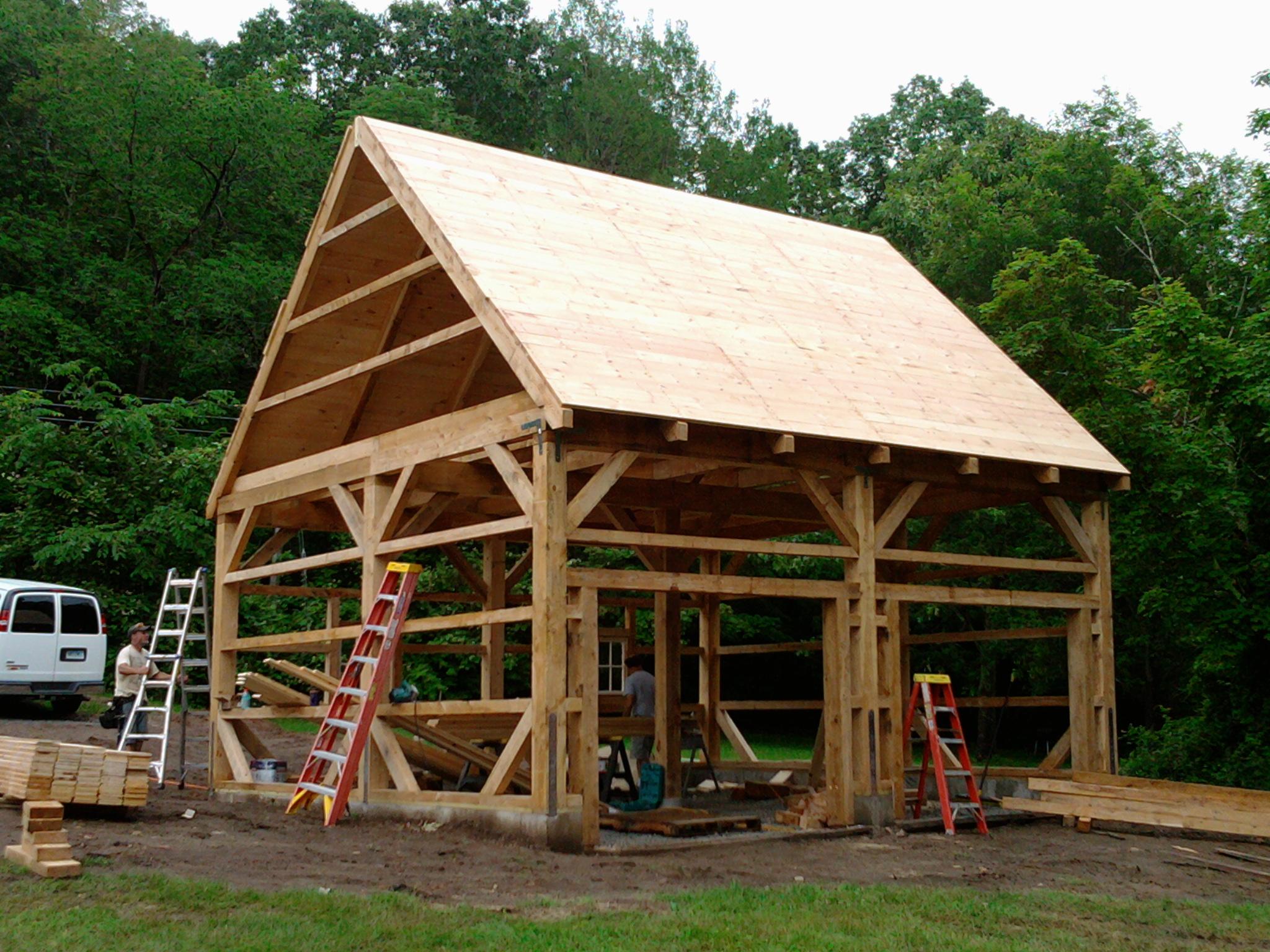 20' x 24' Timber Frame Barn Frame