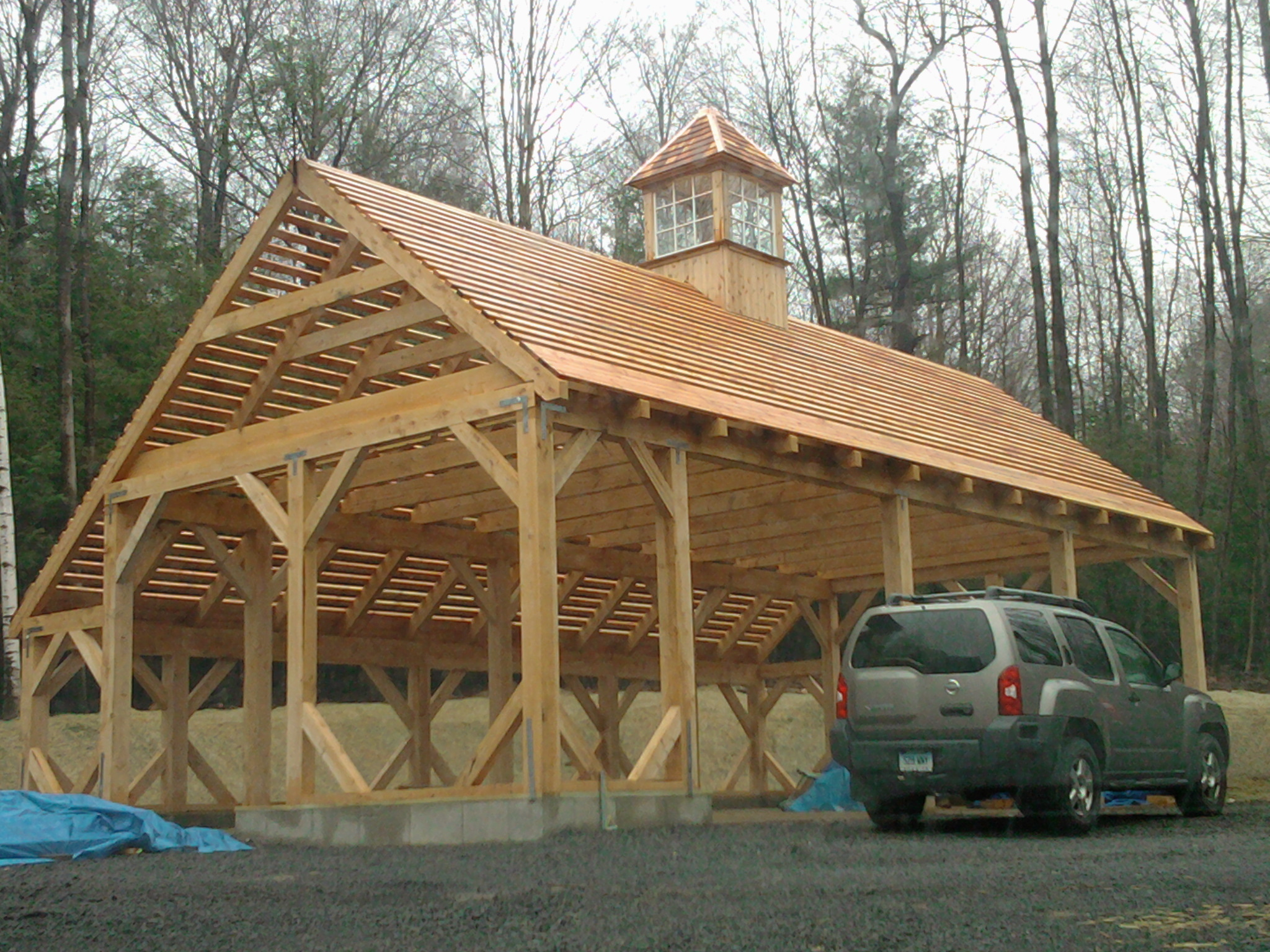 24' x 42' Timber Frame Saltbox