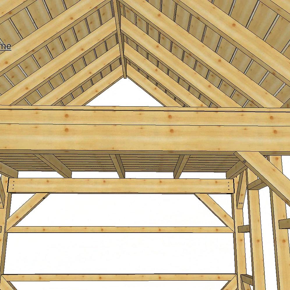 Pre Cut Timber Frame: 14' X 20' T-REX Frame