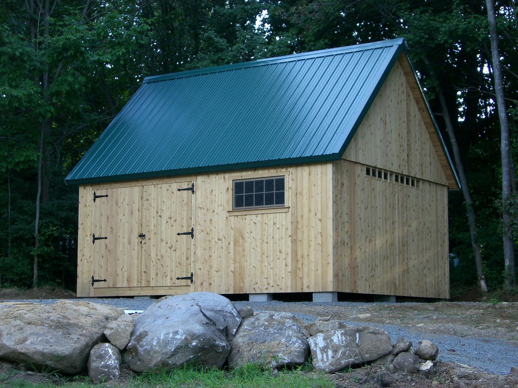 16' x 20' Post and Beam Barn