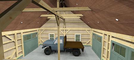 Timber Frame 3D Model