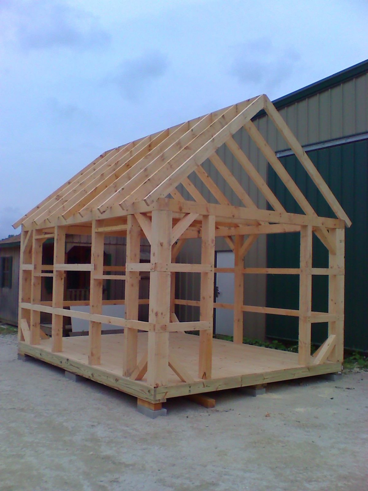 12' x 16' Timber Frame Easy Shed