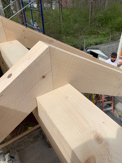 CNC Cut Timber Frame Rafters