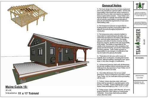20' x 24' T- REX Maine Cabin