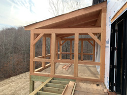Timber Frame Screen Porch