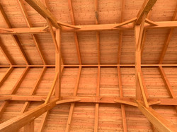 Inside 30' x 70' Timber Frame Barn